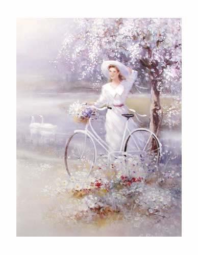 Mädchen und Fahrrad by S. Rachelle