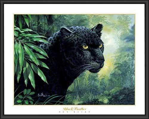 Wandbild: Schwarzer Panther