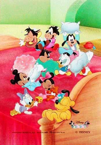 Disney Babys Kissenschlacht Postkarte