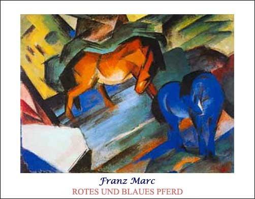 Rotes und Blaues Pferd *