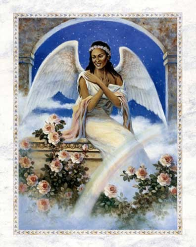 Engel und Regenbogen