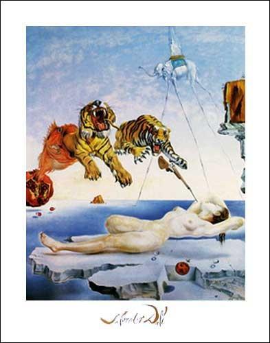 Kunstdruck 40x50 cm: Une Seconde Avant L`eveil, Dream Caused by the Flight of a Bee - Dali Salvador