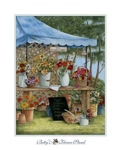 Blumenstand Kunstdruck 20x25 cm