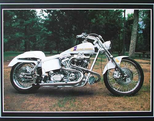 Weißer Harley Davodson Poster