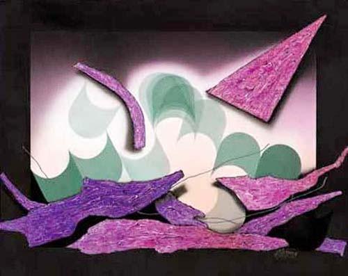 Dreieck Abstrakt Kunstdruck