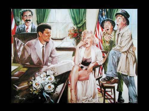 Marilyn Monroe und J.F. Kennedy by Jens Kolding *