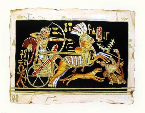 Kunstdruck Jagtscene mit Tutanchamun