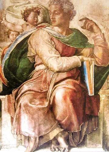 Jesaja, Michelangelo - Kunstdruck 15x20 cm