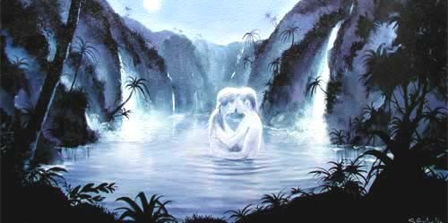 Moonlit Lagoon by S. Rochelle