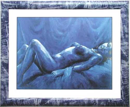 Akt in Blau III