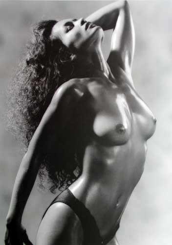 Schwarz-weiße Aktfotografie - Poster 40x50
