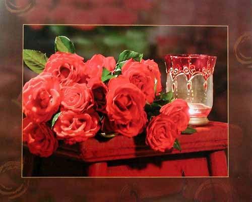 Stilleben mit Rosen
