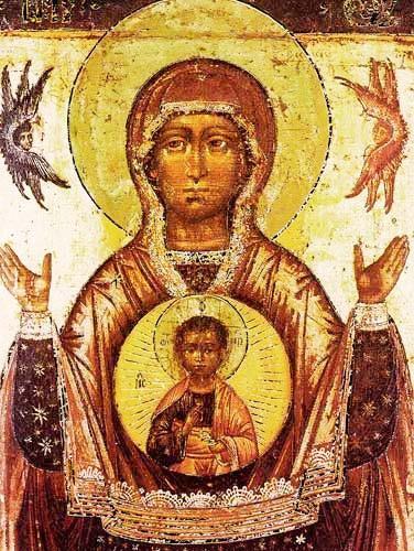 Maria mit Jesus Kunstdruck 15x20 cm