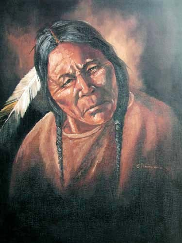 Indianer Portrait I by Vogtschmidt