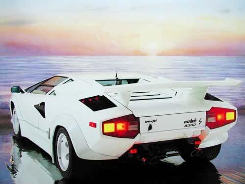 Lamborghini weiß by Ron Kimball