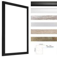 Günstige Bilderrahmen aus MDF in Bauhausstil in Schwarz, Weiß, Weiß Antik Vintage, Sonoma Eiche, Antikgold