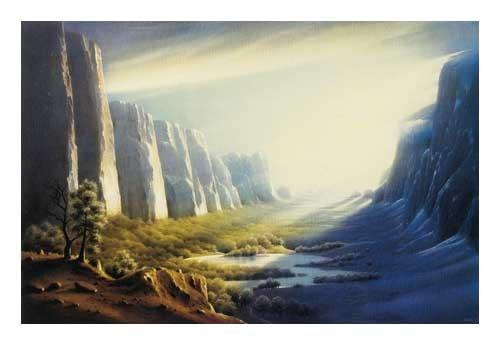Kunstdruck 70x100 cm: Schattenseite von Sahm Hans-Werner