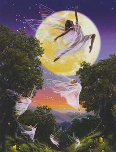 Moon Fairies Alu Bild
