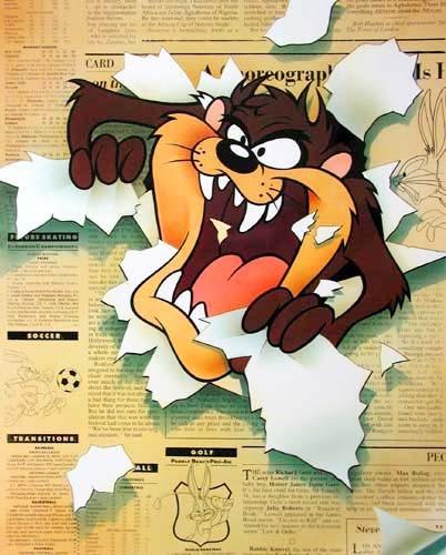 Poster 40x50 cm: Looney Tunes, Tasmanischer Teufel