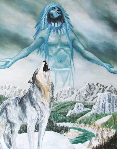 Häuptling und heulender Wolf by Yanozha