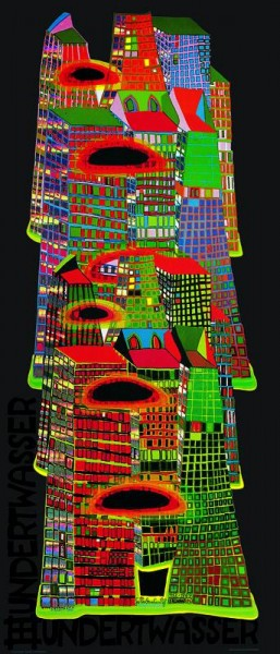 Godd morning city, Hundertwasser Poster