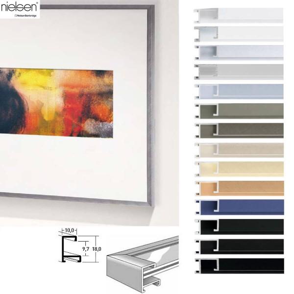 Nielsen Panorama Bilderrahmen 120x30 cm, Profil nr. 3 in vielen Farben