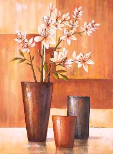 Flores Sobre Abstracto IV, Manuel Luna