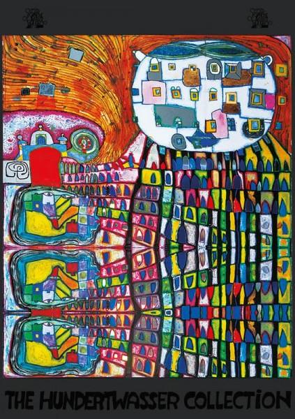 Kunstdruck Haukatze von Hundertwasser