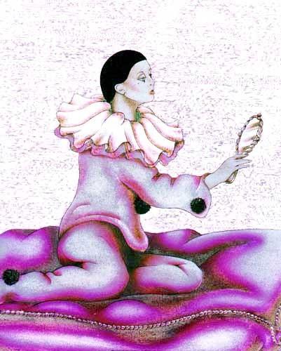 Pierrot und Spiegel