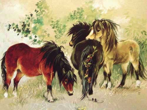 Woodland Ponies by Janet Johnstone