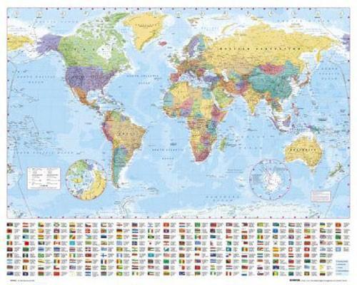 Weltkarte als Poster