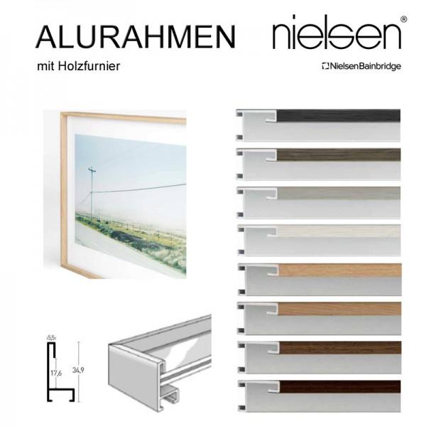 Bilderrahmen 120x120 Holz auf Aluminium Nielsen Profil Natura 34