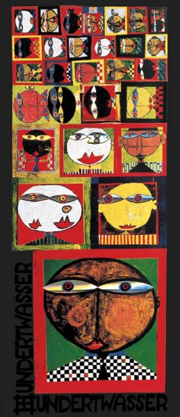 We live in Paradise (99 Köpfe), Hundertwasser- Kunstdruck