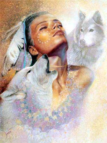 Indianerin und Wölfe, Dawn`s Song- Alubild