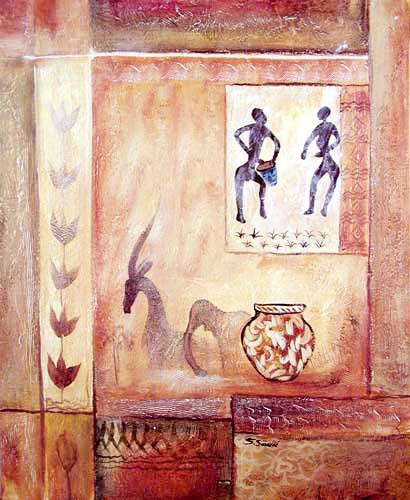 Afrikanische Kunst Malerei Poster