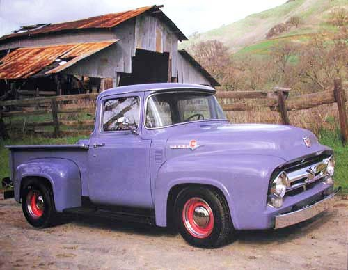 Ford Pick up lila Poster 40x50 cm