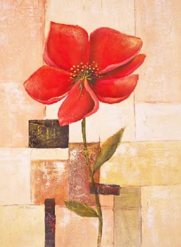 Rote Blume, Flor grande sobre abstracto II, Sauci