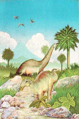 Apatosaurus/ Brontosaurus Postkarte