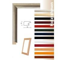 Hochwertiger Holz Bilderrahmen Allegro in weiß, schwarz, rot, orange, blau, grün, braun, natur, antikgold, antiksilber