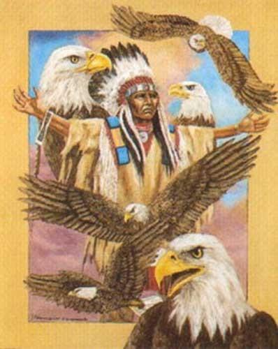 Indianer und Adler by J.T. Vogtschmidt