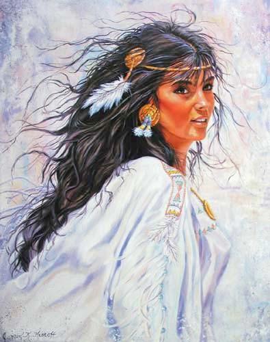 Indianerin als Braut Poster 40x50