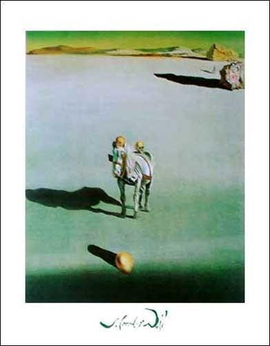 Kunstdruck 50x70 cm: Le Devenir Geologique, Dali Salvador
