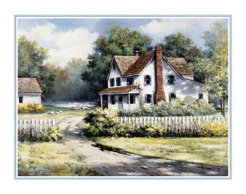Landhaus, Chiu Kunstdruck 25x20 cm