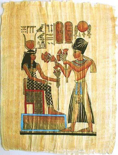 Hathor Papyrusbild
