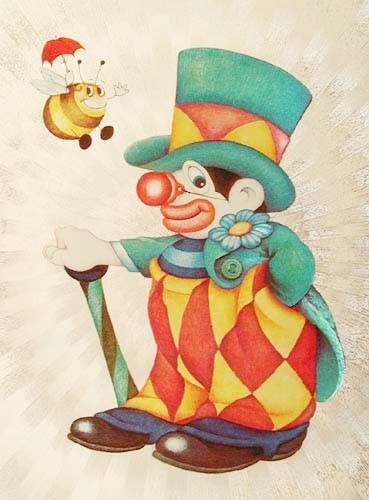 Clown und Biene Bild