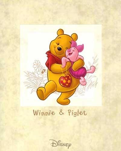 Winnie Puuh und Ferkel Poster 40x50 cm