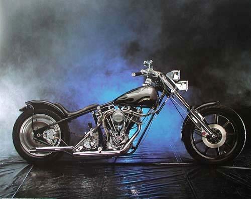 Motorrad schwarz