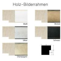Holzrahmen 100 x 150 cm, champagner, weiß, schwarz , bronze, silber - Nielsen Profil Sun Cube 40
