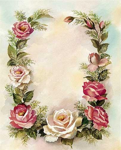 Rosenkette Kunstdruck