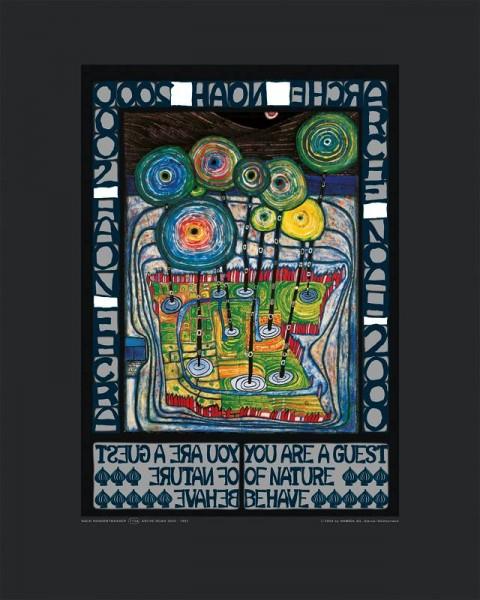 Arche Noah Hundertwasser Kunstdruck